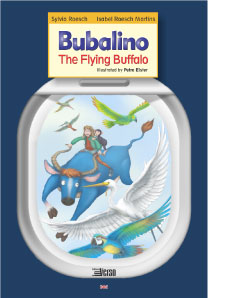 Bufalino, the flying buffalo - Dr Sylvia Roesch and Isabel Roesch Martins