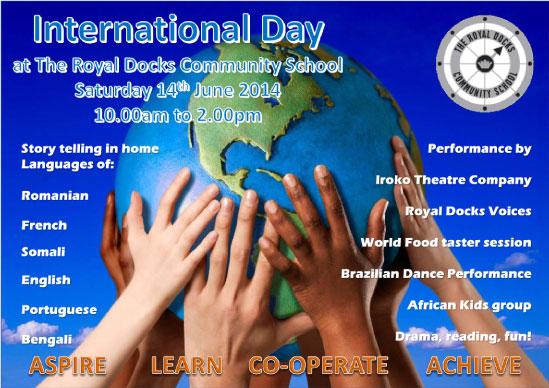 Celebração internacional em Newham - um evento multilíngue